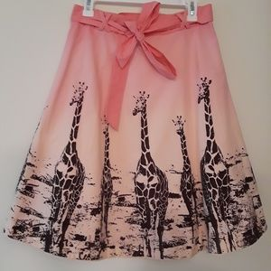 Anthro Odille Ombre Grasslands Skirt